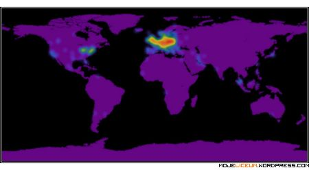 Wizyty na blogu - mapa