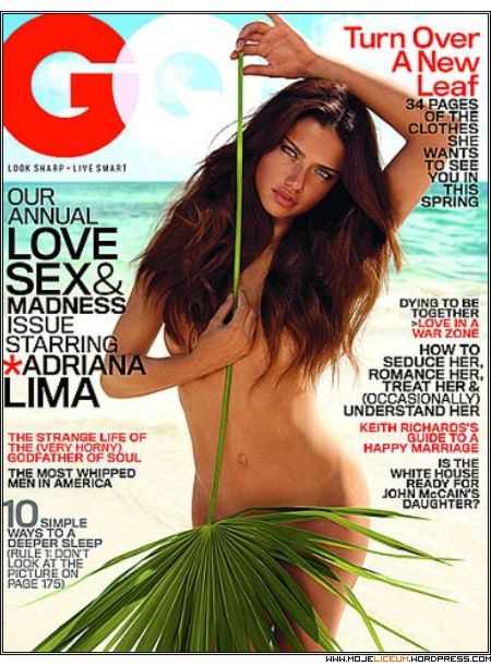 Adriana Lima nago w magazynie GQ