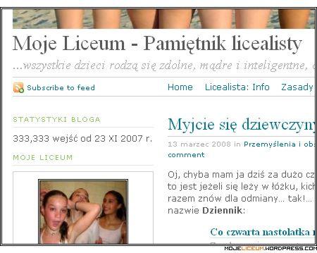 Moje Liceum - Pamietnik licealisty: 333.333