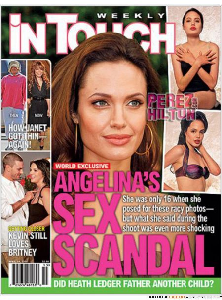 Angelina Jolie nago 16 lat (In Touch)